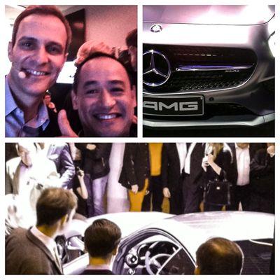 DJ Fong Kao und Matthias Malmedie bei Mercedes GT Premiere