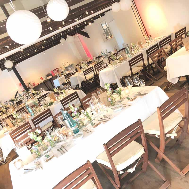 Hochzeit Location Empfehlung Stimbeckhof  Tische