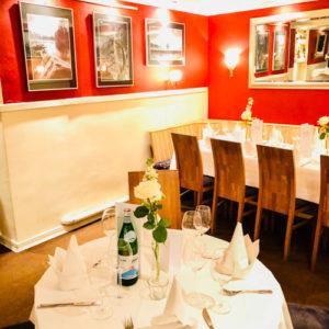 Location Empfehlung Restaurant Alsterpark Hamburg Hochzeit gedeckter Tisch